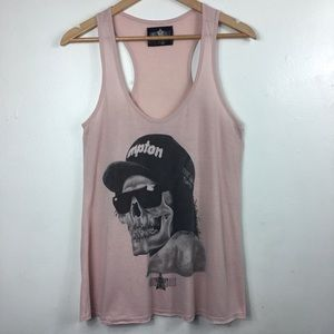 Famous Skull Easy- E Pink Tank Top